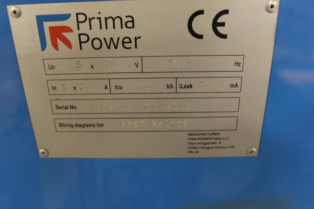 2013 prima power ep 1336 servo electric press brake s n pb181 5 previousnext