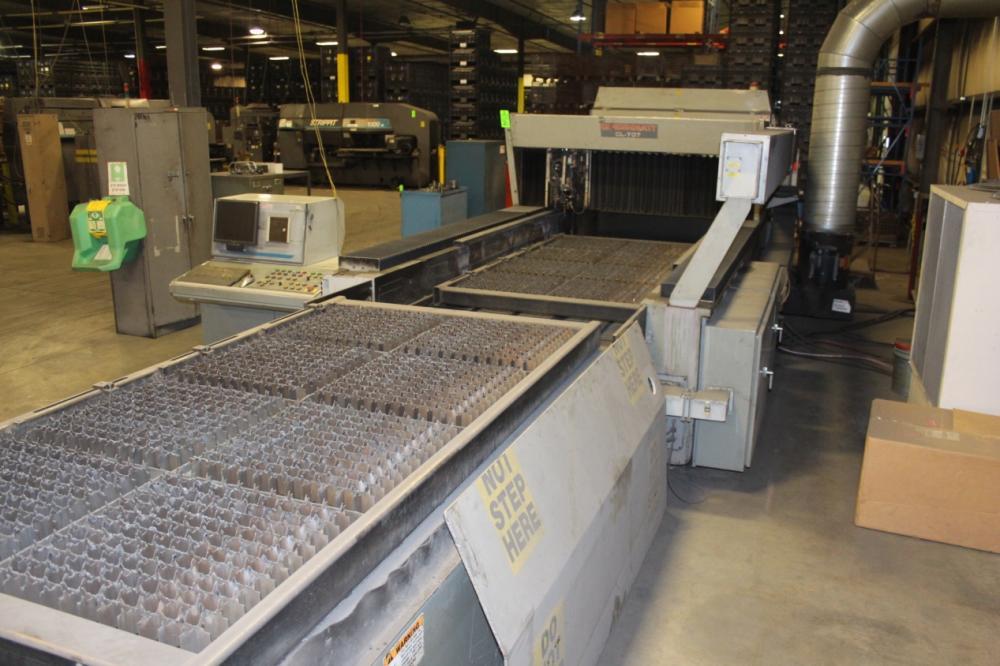 1997 Cincinnati Cl 707 4x8 2000 Watt Cnc Laser Cutting