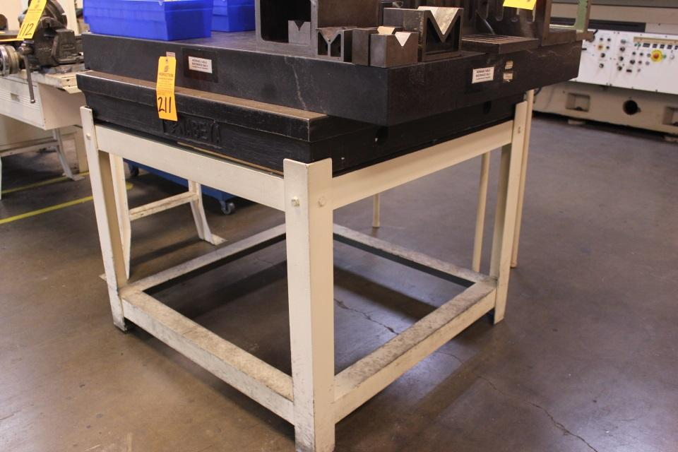 39 1 2 x 39 1 2 x 2 thick cast iron layout table 48 for 2 thick granite