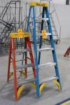 6' and 4' Werner Fiberglass Step Ladders