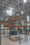 "(2) Sections of 18' x 8' Cross Beams x 42"" Deep Tear Drop Style Pallet Racking (EMS Shipping Area)"