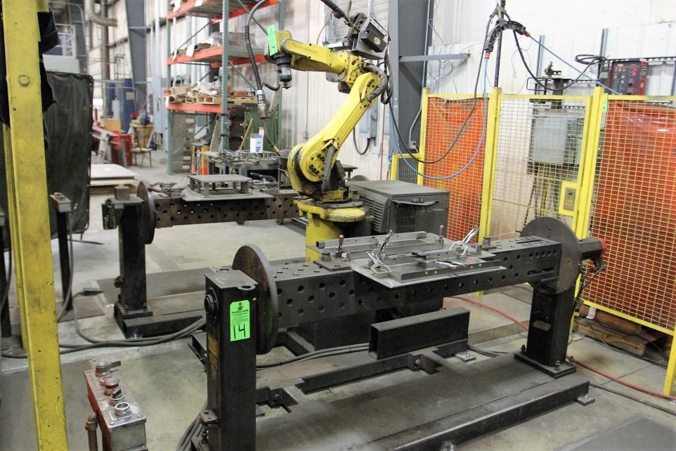 Fanuc ArcMate 100i Robotic Welding Cell w/ (2) Koike Aronson