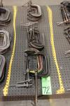 "Lot of (12) 6"" C-Clamps"