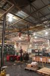 1/2 Ton Swivel Jib Crane w/ CP Pneumatic Hoist; (Location: Cat Aurora) Asset # HJ535