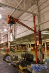 1/2 Ton Swivel Job Crane w/ P & H Electric Hoist (Location Cat Aurora) Asset # HJ308