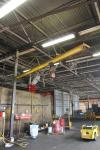 1/2 Ton Swivel Jib Crane w/ CP Pneumatic Hoist; (Location: Cat Aurora) Asset HJ7012