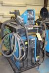 Miller Axcess 450 DC Welding Power Supply, S/N LJ190340U, (2008), w/ Axcess 40V Microprocessor Wire Feeder, Cart, Mig Gun