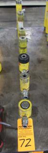 Lot of (7) Enerpac Hydraulic Jack Cylinders, 10-12 Ton
