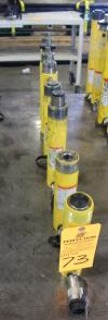 Lot of (8) Enerpac Hydraulic Jack Cylinders, 10-12 Ton