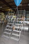 Lot of (2) Rolling Step Ladders, 7 & 8 Step