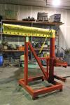 Forklift Boom Attachment, Approx 10,000 LB Capacity, 10' Max Height x 6' Arm