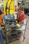 Lot of (2) Pneumatic Diaphragm Pumps & Cart