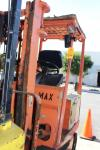 Toyota FBA15 3,000 Lb. Capacity Sit-Down Rider Electric Forklift, s/n FBA15-11228, 2 Stage Mast, 36 Volt