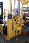 "Hyster R25A 2,500 Lb. Capacity Stand-Up Rider Electric Order Picker, s/n A174D01698J, 210"" Lift, 42"" Forks, 24 Volt"
