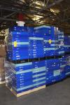 Large Lot of (8) Pallets of Stackable Collapsible Parts Bins