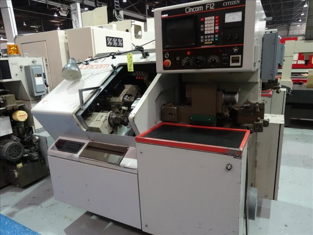 citizen cincom f12 automatic swiss type screw machine sn 1117 rh perfectionindustrial auctionserver net