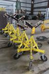 Lot of (5) Max Jax 781400 Rolling Pipe Jack Stands, 2500 Lb Capacity Each