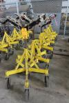 Lot of (6) Max Jax 781400 Rolling Pipe Jack Stands, 2500 Lb Capacity Each