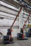 2012 Boom Welding Station w/ Miller Dimension 652 MIG Welder, s/n MC360217C, w/ Process Selector Control, Miller 70 Series Wire Feed, s/n MD071028U, w/ Boom