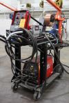 Lincoln Power Wave 355M Advanced Process Welder, s/n U1120900836, w/ 10M Power Feed Wire Feeder
