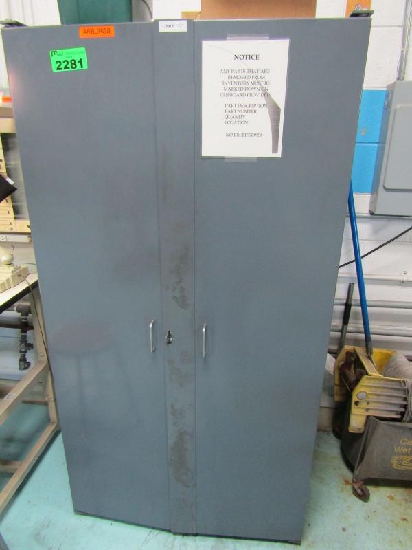 Arburg Spare Parts in 2 Door Heavy Duty Parts Cabinet with Spare
